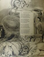 1922 Completo Talla William Blake Grande Estampado Thomas Grises Poema Fatal