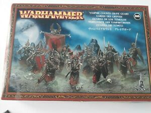 Warhammer Vampire Counts Grave Guard- 10 figs built &part-painted Games Workshop