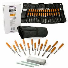 Wood Carving Chisel Set- Professional Wood Carving Tools, Deluxe 18 pieces with