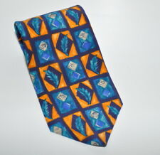 J. Garcia Men's Tie Blue Yellow Landscape with Eye Collection Ten Necktie