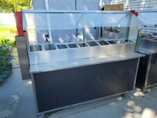 Food Condiment Station With Sneeze Guards And Casters