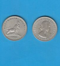 Australie  Elisabeth 1 Florin en argent 1954 Melbourne Silver coin Kangourou