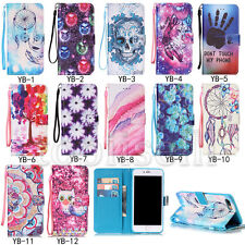 New Flip Patterned PU Leather Wallet Stand Lot Card Pocket Case Cover Bumper YB1