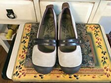 Women's Merrell  Biege /Brown Wedge Heel Mary Jane Shoes Size 9.5M