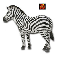 ADULT ZEBRA ANIMAL TOY MODEL RETIRED MODEL by COLLECTA 88032 *NEW WTH TAG*