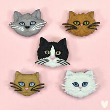 DRESS IT UP Buttons Fuzzy Felines 5800 - Cat Kittens