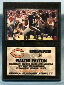WALTER PAYTON  CHICAGO BEARS  SUBLIMATION PHOTO PLAQUE