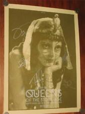 """QUEENS OF THE STONE AGE - FULLY SIGNED 18"""" X 24"""" OFFICIAL CONCERT LITHOGRAPH!"""