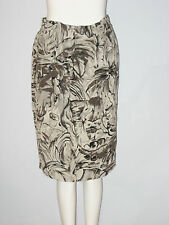 LOUBEN Size 10 Gray Women's Fully Lined Faux Wrap Skirt (Made in Canada)