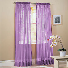 Solid Purple Voile Sheer Window Curtain/Drape/Panels/Treatment