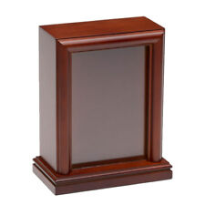 SMALL BIRCH WOOD PHOTO FRAME PET URN IN CHERRY - 2ND-FREE SHIP USA - B016-S