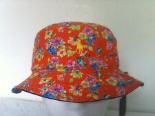 Polo Ralph Lauren Bucket Hat~Navy/Orange~ Reversible~Orange Floral~Size S/M~NWT