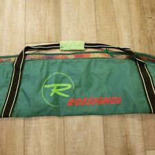 "Rossignol 79"" Ski Bag Vintage Green Black Orange Pink Retro Animal print 90s"
