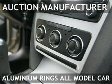 Skoda Octavia II 04-13 Aluminium Chrome Heater Control Rings Surrounds 3pcs