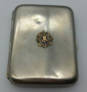 WW1 British Army The Royal Scots Cigarette Case LOOK!