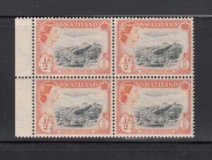 1956 Swaziland QUEEN have-lock ASBESTOS MINE VF Block of 4 MNH q28
