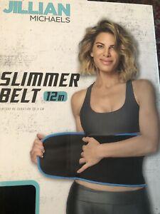 Jillian Michaels Slimmer Belt 12 inch Black & Blue New