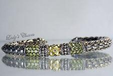 Barbara Bixby Peridot Lotus Cuff Sterling Silver 18K Gold Bracelet