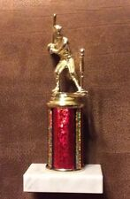 """Baseball Trophy with Marble Base Figure 8"""""""