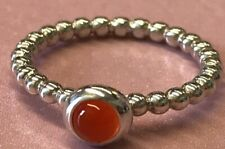 PANDORA | CARNELIAN CABOCHON TWIST RING *NEW* 190610K AUTHENTIC RARE RETIRED 925