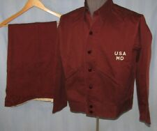 Rare WW2 U.S. Army Medical Dept. Wounded Soldier's Convalescent Jacket/Pants