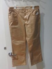 Anthropologie High Rise Metallic Jeans By Pilcro