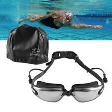 Swimming Glasses Goggles UV Protection Non-Fogging Swim Cap Nose Clip Men Women