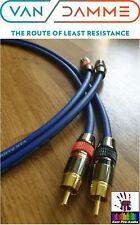 Van Damme - Monster Silver Plated OFC RCA Phono Interconnect Ultra Cable Blue 2m