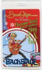 BRIAN SETZER ORCHESTRA 2009 Christmas Tour Laminate Backstage Pass STRAY CATS #2