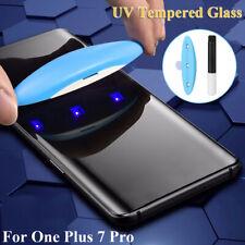 Full Cover Full Glue UV Tempered Glass Film Protector for One Plus 7 Pro Screen
