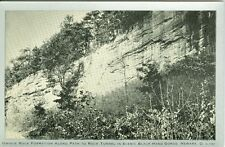 Newark OH Rock Formation along Path to Rock Tunnel in Scenic Black Hand Gorge