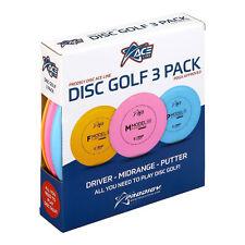 Ace Line Disc Golf Starter 3 Disc Set - Putter Midrange Driver (Assorted)