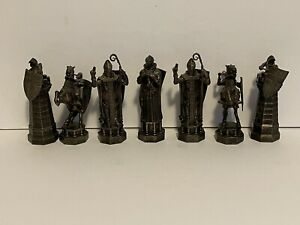 Harry Potter Chess BLACK figures MISSING THE KING  WBEI (s06) - Used Untested