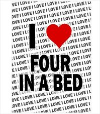I Love Four In A Bed - A3 Poster - Gift Birthday Stocking Filler