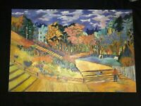 Fall landscapes hand painted original oil PAINTING impressionist trees LARGE