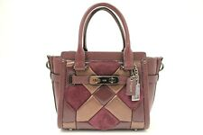 Coach Quilted Mix Swagger 21 Small (Oxblood Bronze)