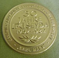 DDR Medaille  - 30 Jahre LPG Seyda - 1952 - 1982 - Karl Marx