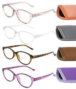 Womens Anti Blue Light Blocking Reading Glasses With Case Computer Screen