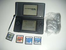 Nintendo DS Lite COBALT BLUE Handheld System Console and LOT 4 Games