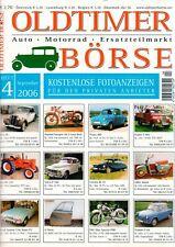 OLDTIMER BÖRSE - Magazin Kleinanzeiger Ersatzteile 4/2006 - B15294