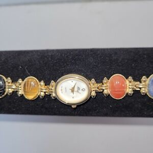 Faberge Scarab Watch 7 inch with Faberge cover