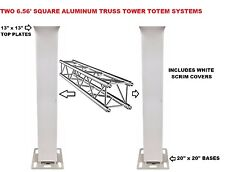 Two (2) Totem 2m 6.56ft Aluminum Square Truss Tower Base +Scrim Vertical System