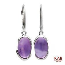 Gema Amatista & Plata de ley 925 pendientes jewelry. KAB -83