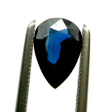 0.72 carat Pear 7x5mm Strong Blue Color Natural Australian Sapphire Gemstone