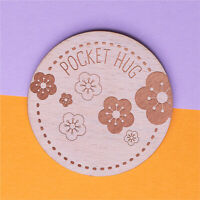 Wooden Pocket Hug Tokens Flowers Keepsake Gift for Her for Him Friends Mum Dad
