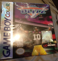 NFL Blitz Nintendo Game Boy Color NEW AND SEALED! SOME WEAR! GBC Gameboy