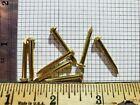 Внешний вид - 25 Solid brass 12 gauge x 1 inch escutcheon pin rivet steampunk sca