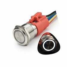 Starelo 19mm 34 Momentary Push Button Switch 5a 12v 1no1nc Waterproof Stain