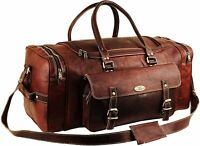 Overnight Weekender Bag Leather Travel Bags For Men Vintage Leather Duffle Bag