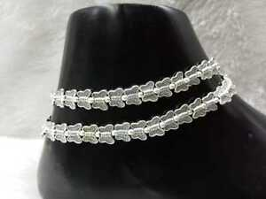Indian Traditional Bollywood Designer German Silver Plated Fashion Payal Anklet